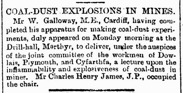 South Wales Daily News of the 4th December 1894