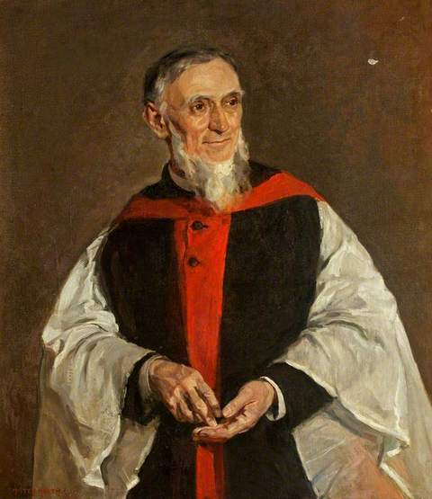 Reverend Canon Thompson, DD  by Thomas Hasted Heath (1876�07) used with permission from Mansion House, Cardiff