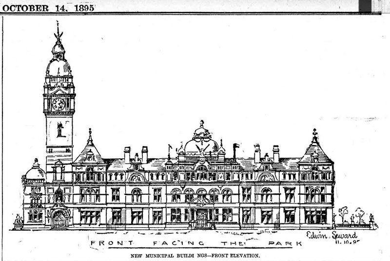 Municipal buildings suggested design Evening Express 14th October 1895