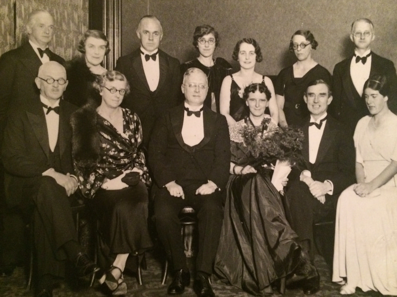 Eleanor Vachell and CNS members at the time of her CNS Presidency