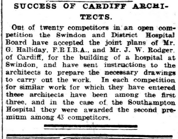 Success Of Cardiff Architects, Evening Express 31st May 1899