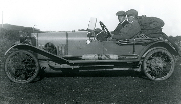 Salmon and Ingram on the Road post 1921 when Salmon purchased a car - a 1920 Gofrey Nash