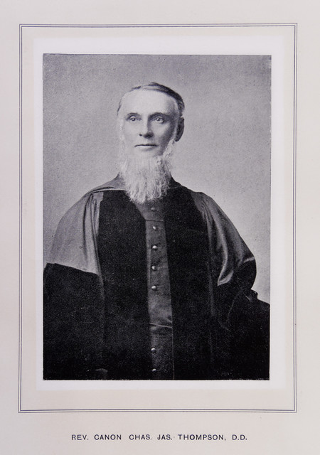 Reverend Canon Chas James Thompson - from Contemporary Portraits Men and Women of South Wales and Monmouthshire, Western Mail Limited 1896