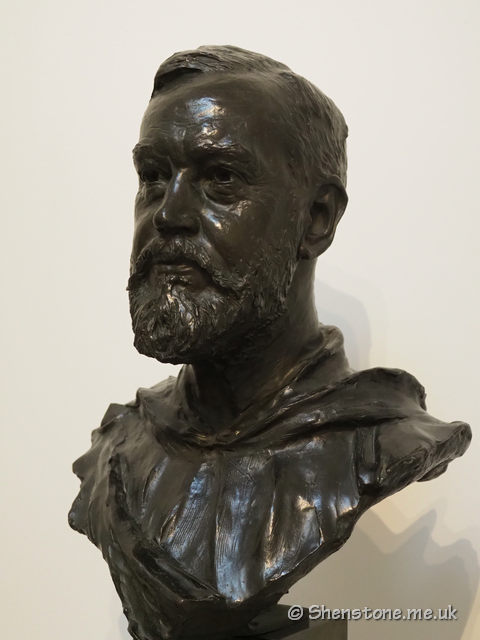 Bust of T.H.Thomas in marble created by William Goscombe John in 1902 and begueathed by Thomas in 1924