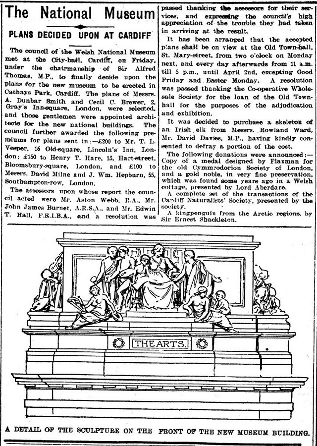 The National Museum, Evening Express 19th March 1910