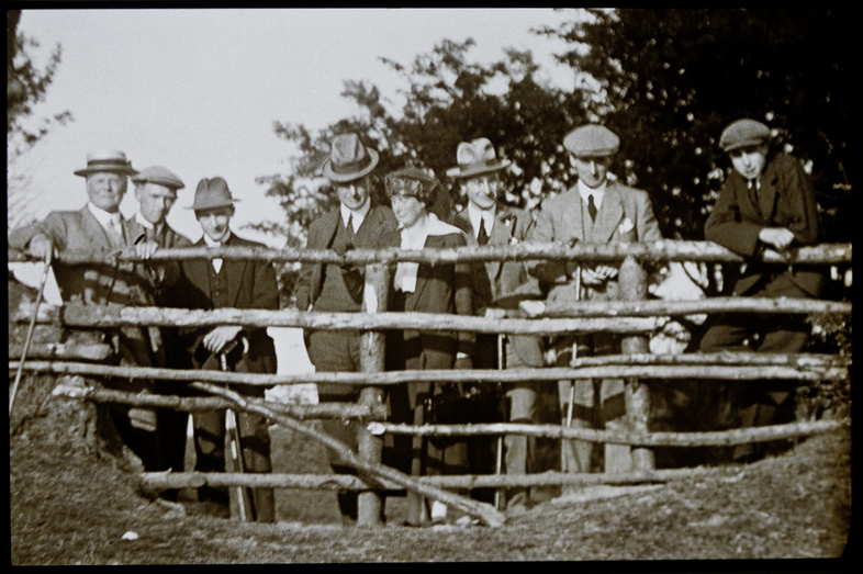H. E. Salmon (Right) on the Wenallt 18-May-1921 from Society Archives