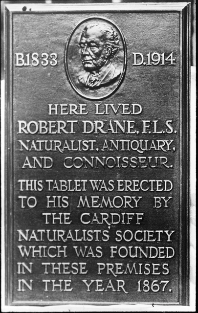 Robert Drane original plaque in detail
