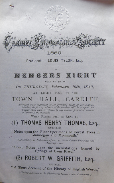 T H Thomas lecture poster